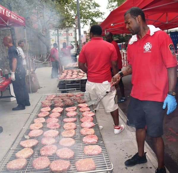 Being #FDNYSmart while working the BBQ grill. Learn More about BBQ Safety Tips here.