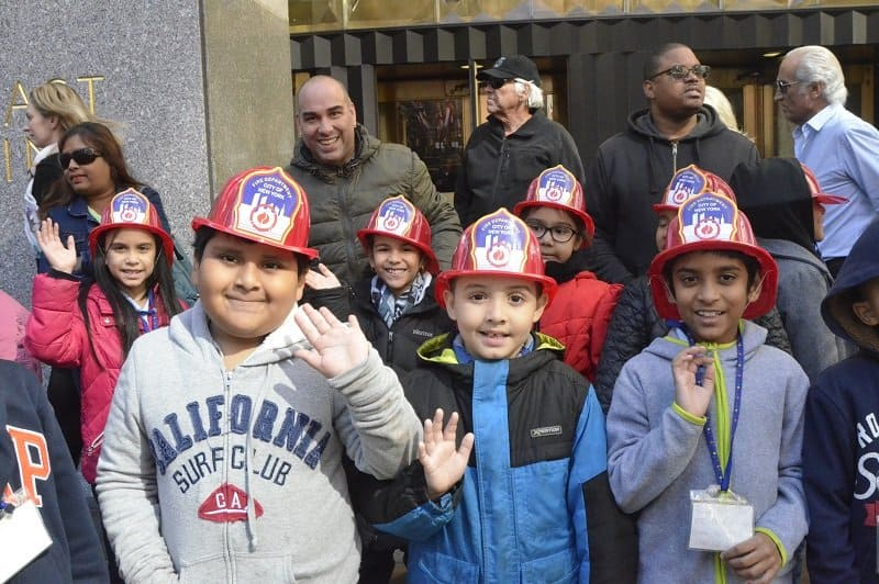 Meet some newly sworn in Junior Firefighters and EMTs at Fire Safety Day at Rockefeller Center.